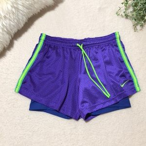 Nike Pro Dri Fit 2 in 1 Running Shorts NWOT